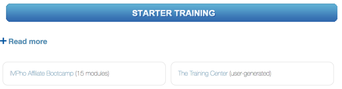 impho starter training