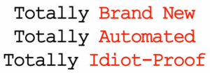 blockbuster idiot proof system