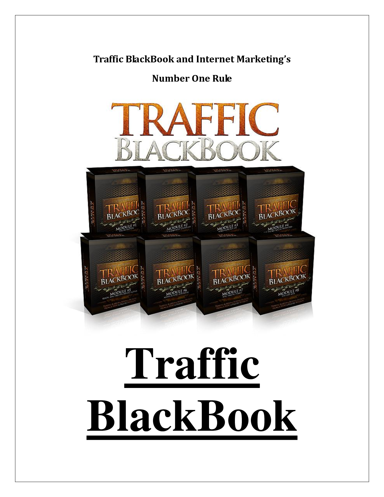 Traffic Blackbook Review – One of the Best PPC Training Courses