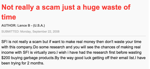 not really a scam