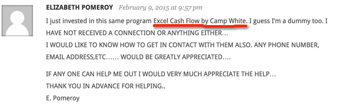 complaint-about-excel-cash-flow
