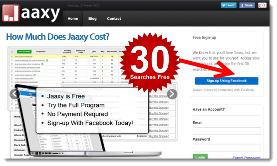 Jaaxy-30-free-searches