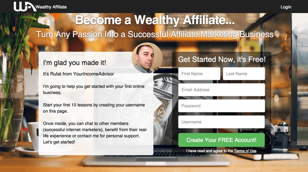 Wealthy-affiliate-account-setup