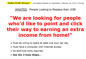 Online Profit Stream – Not Recommended at Best