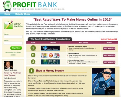 Profit Bank by Millionaire Society Review