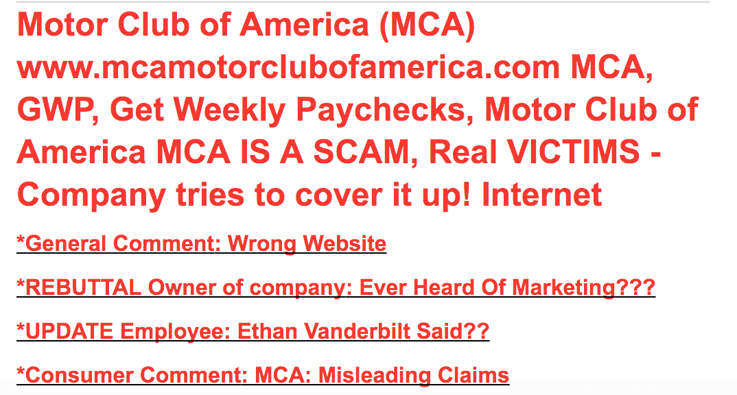 Is Motor Club Of America A Scam Or Legit Your Income