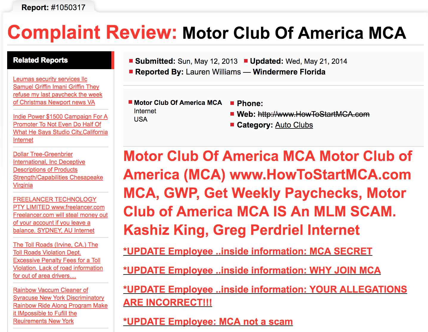 Is motor club of america a scam or legit your income for Mca motor club of america scam