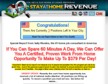 Stay at Home Revenue Scam – The Number of Sites is Still Growing