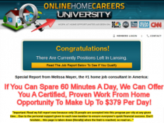Online Home Careers University – You Have to Spend Money to Make Money