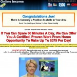 Amanda Jones Online Income Scam