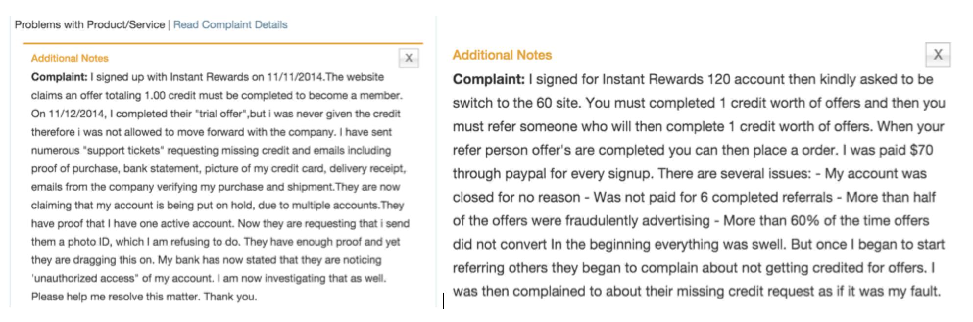 IRN-complaints