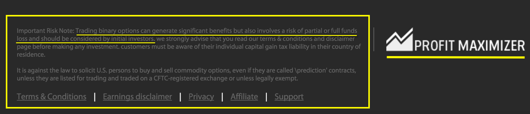 profitmaximizer-earnings-disclaimer