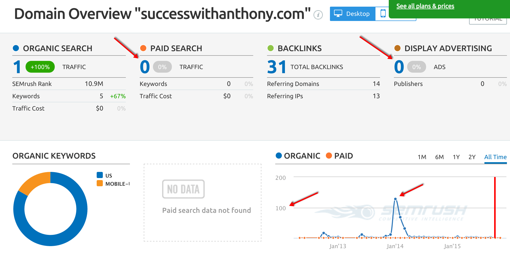 semrush-data-on-wnthonys-website