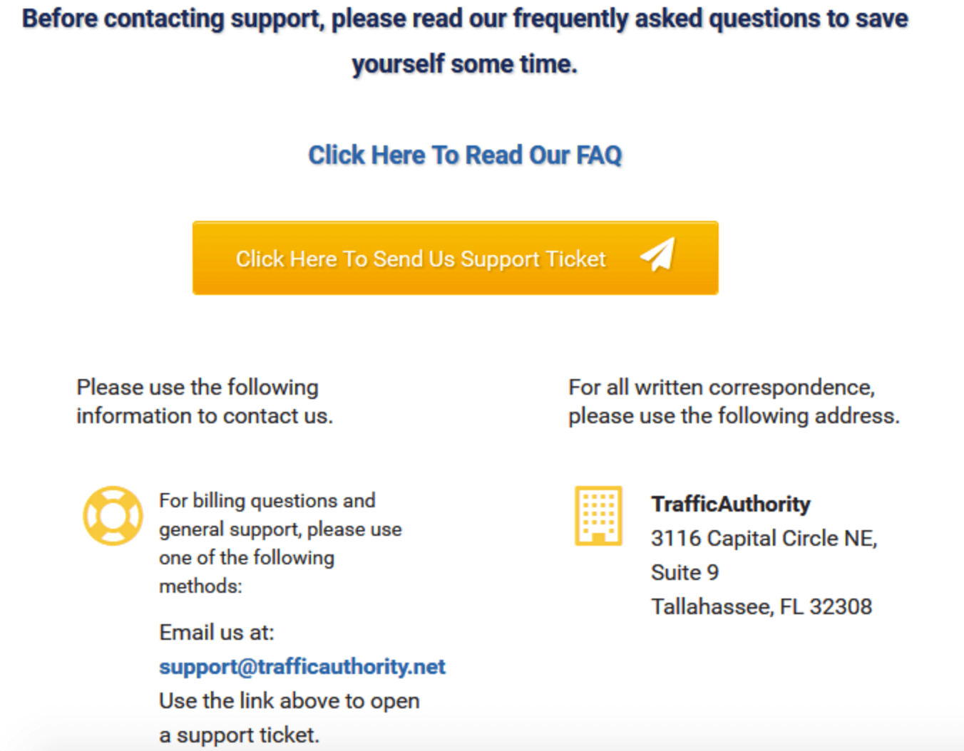 traffic-authority-support