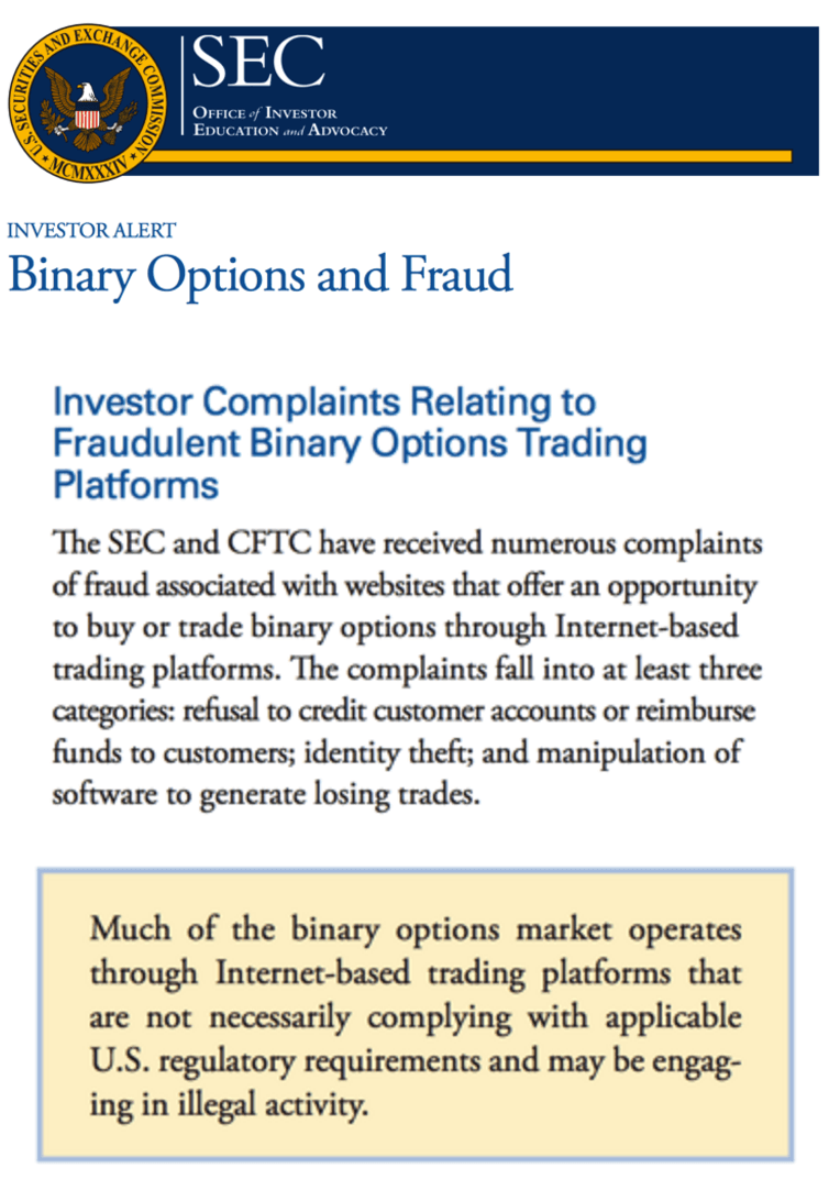 united options binary trading legal us