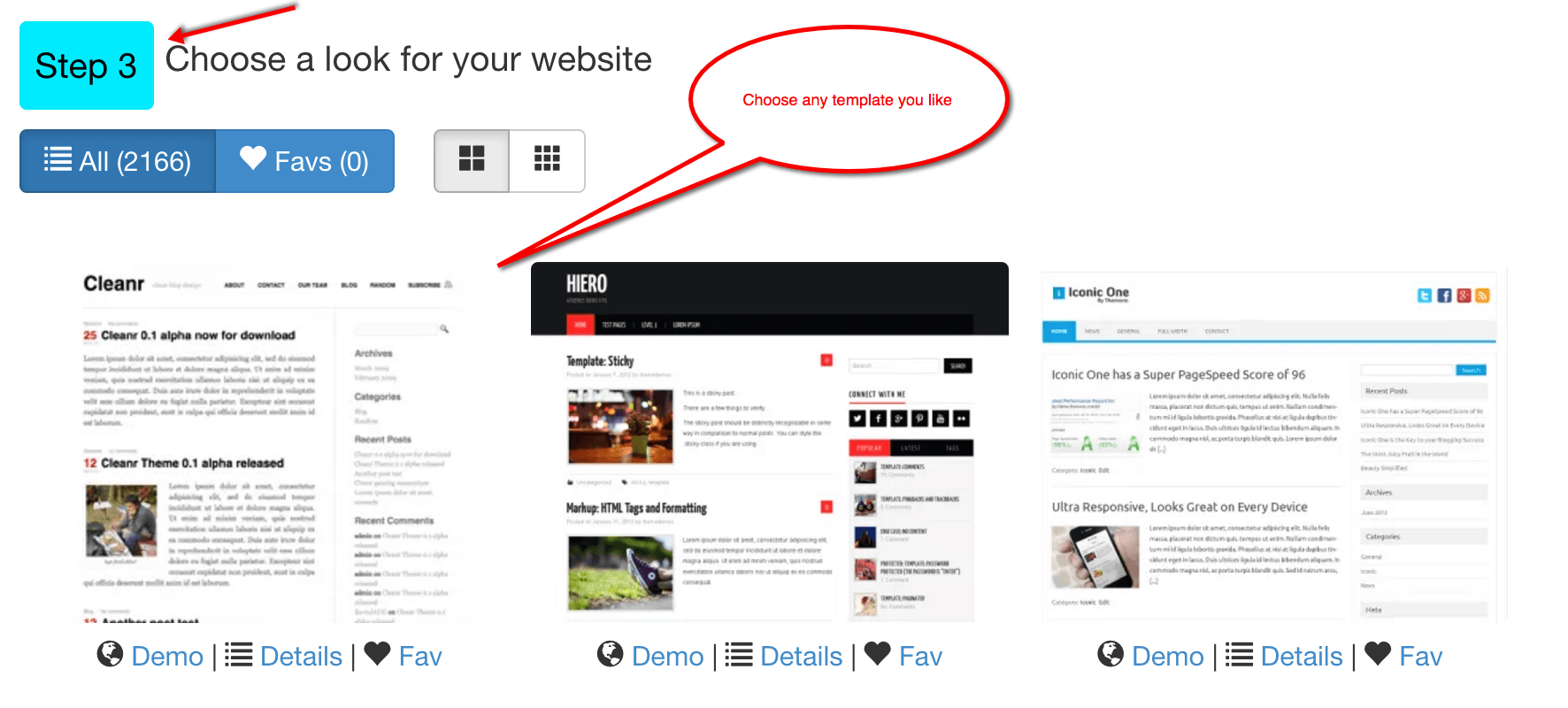 choose-website-template
