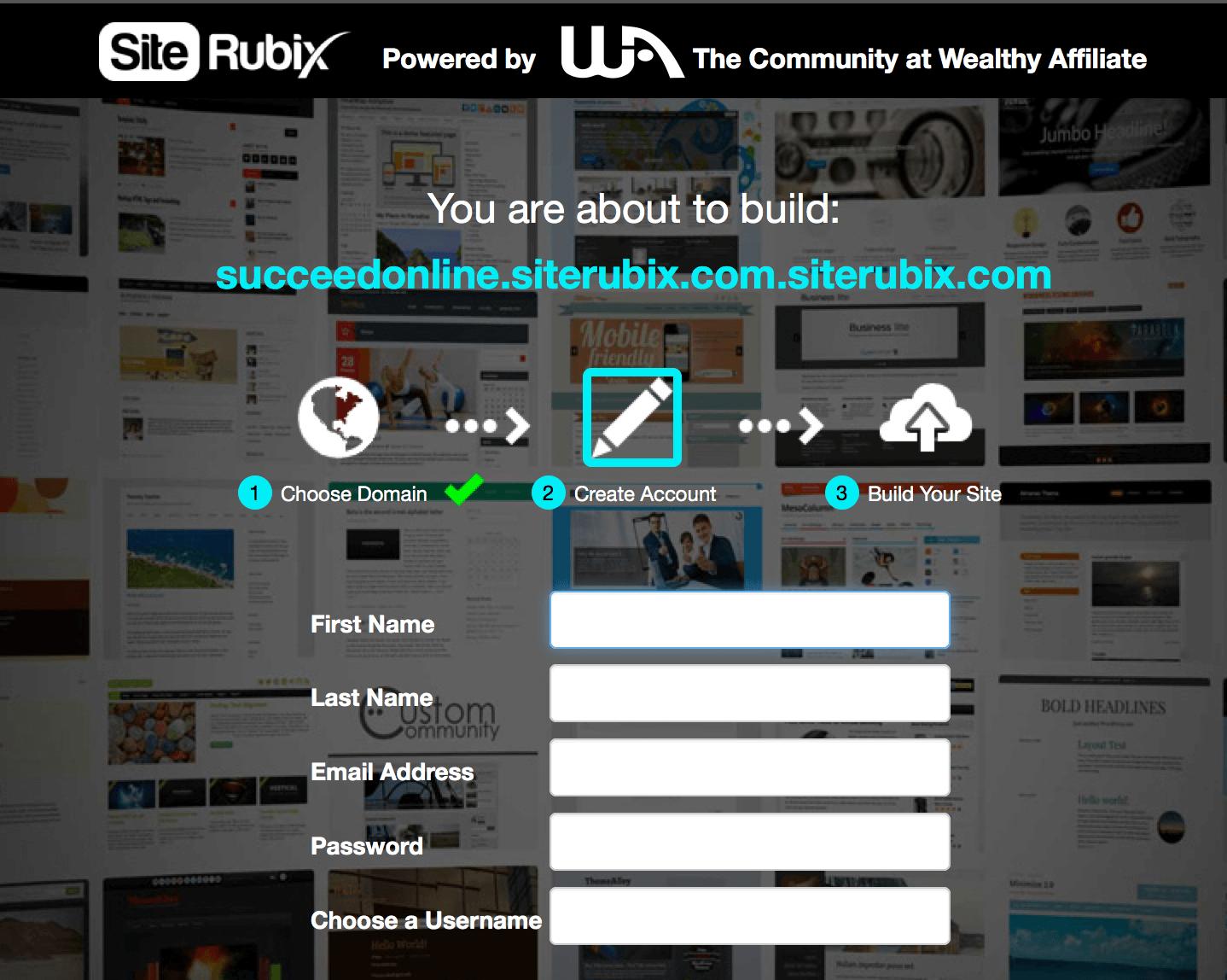 free-website-account-set-up