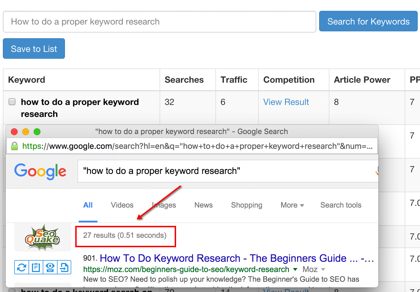 keyword-tool