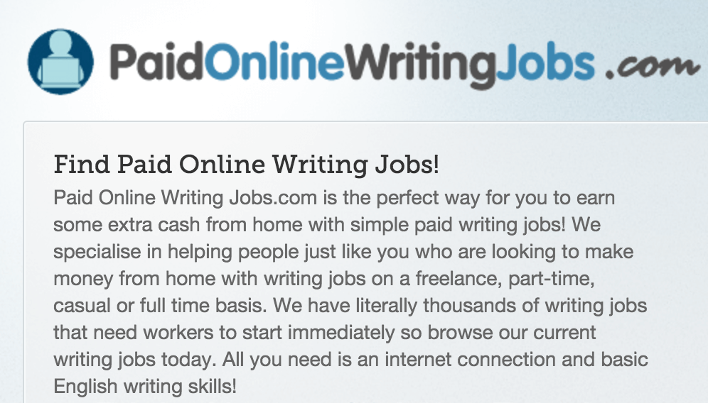 is paid online writing jobs legit i tend to think it s not your  paid online writing jobs logo