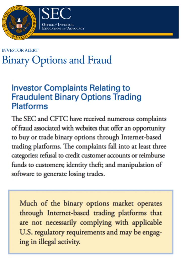 Certified binary options