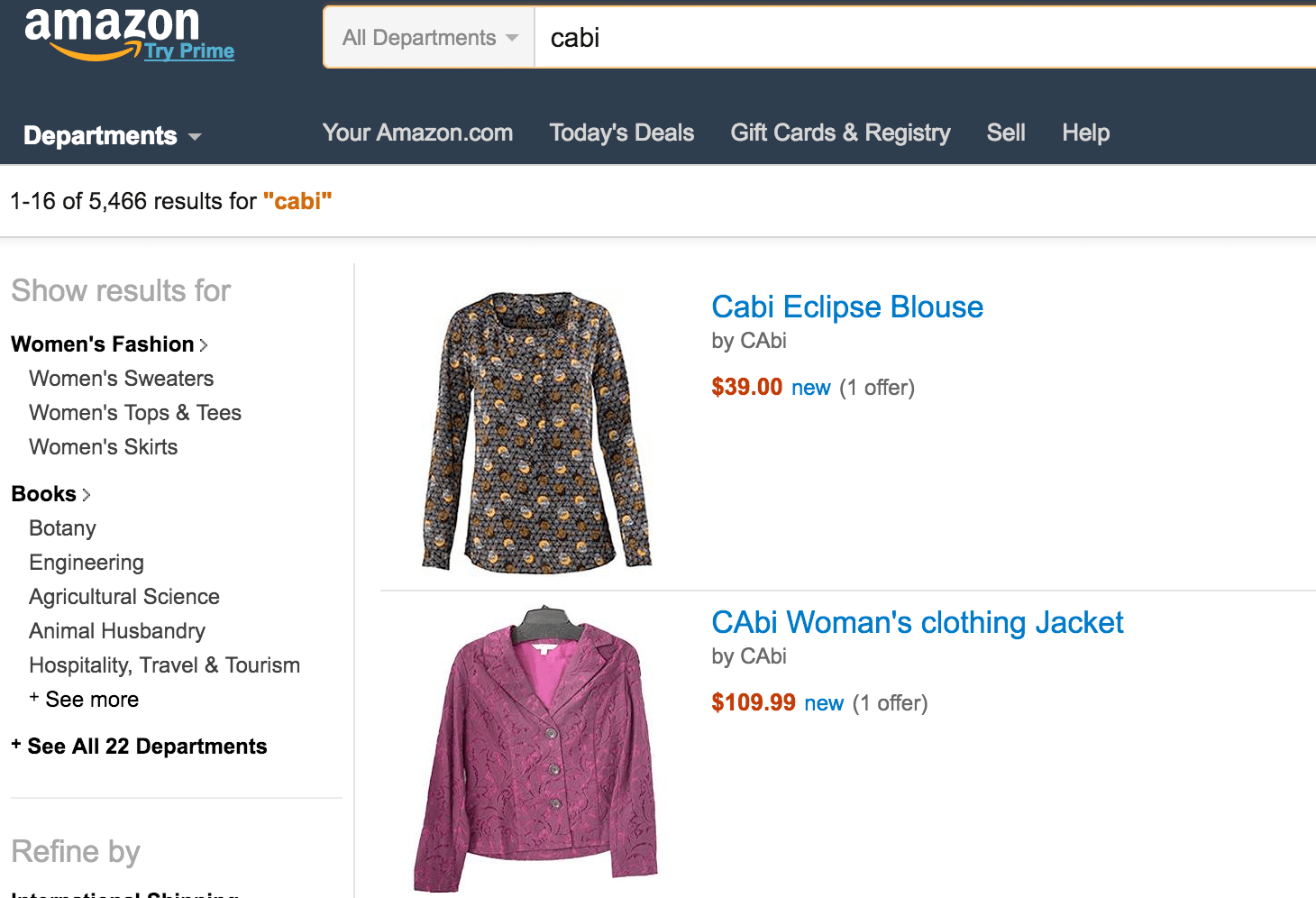 cabi-on-amazon