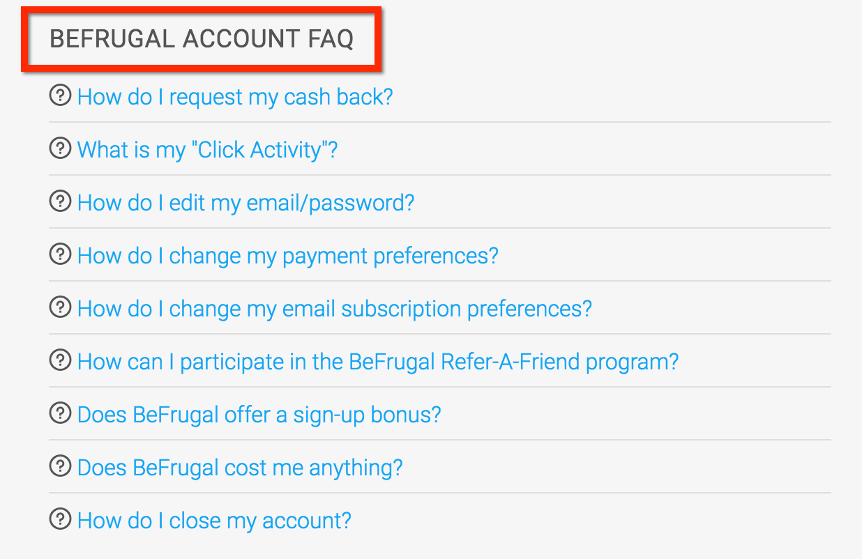 befrugal-FAQ
