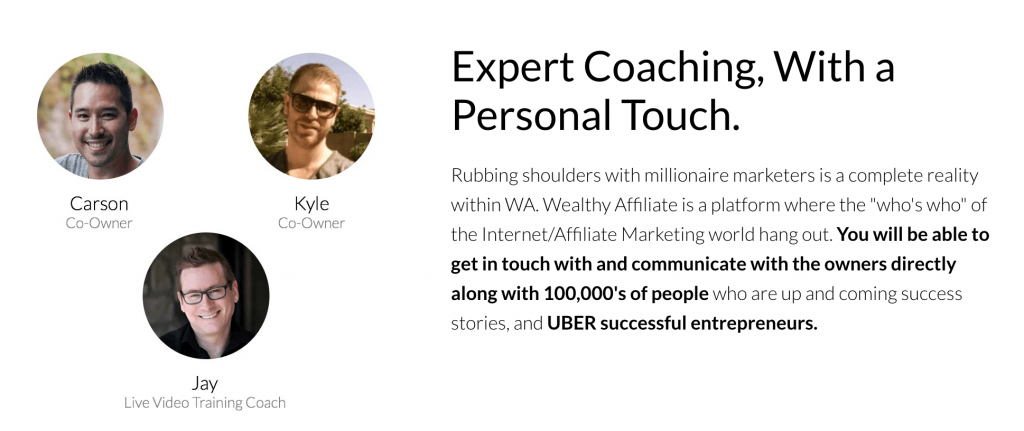wealthy affiliate support