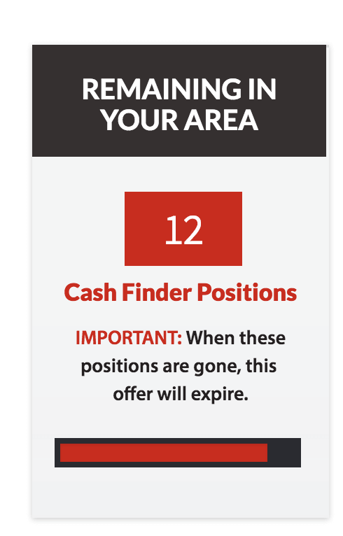 cash finder positions
