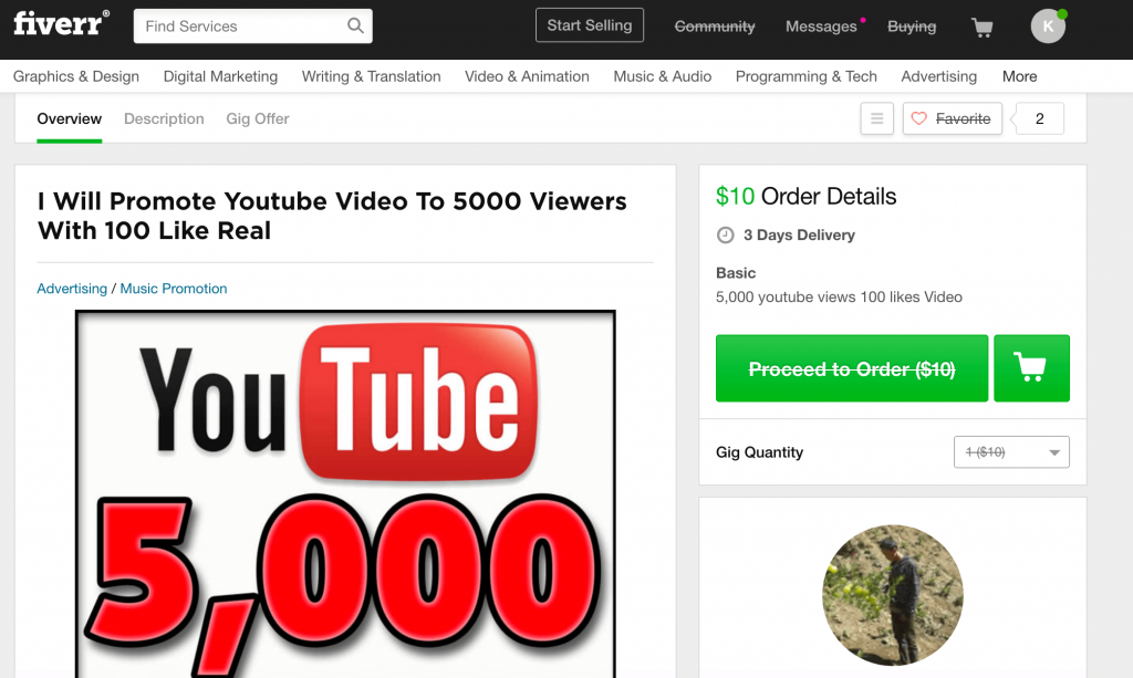 paid views at fiverr