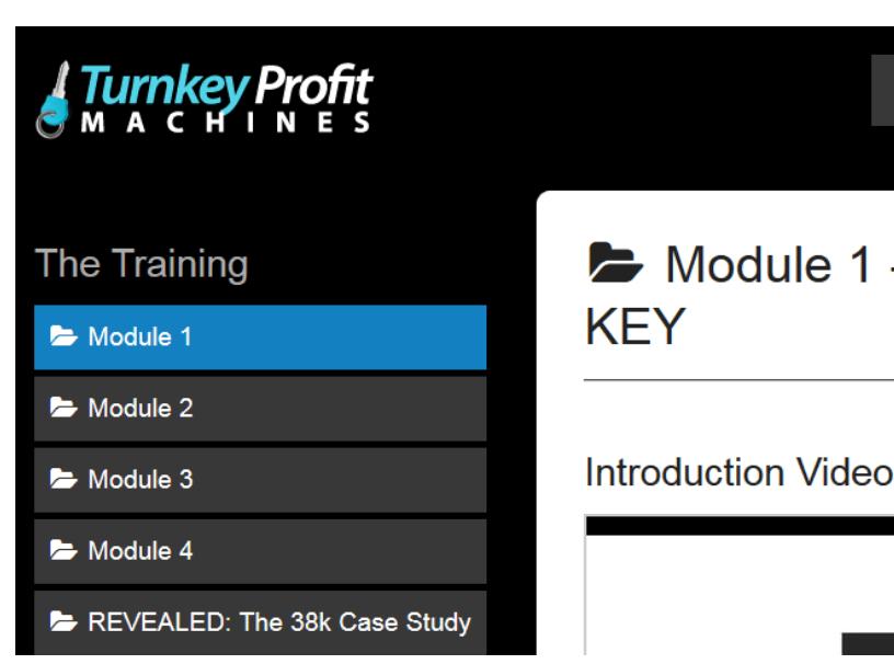 Turnkey Profit Machines members area