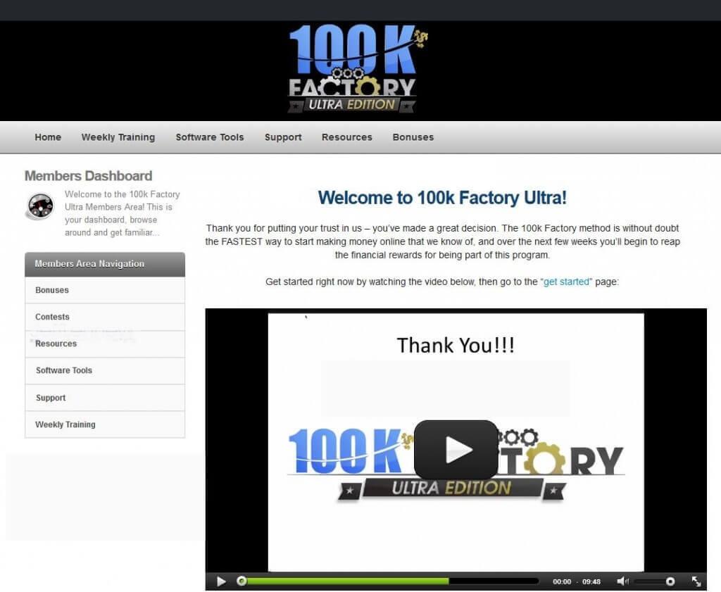 100k Factory members area