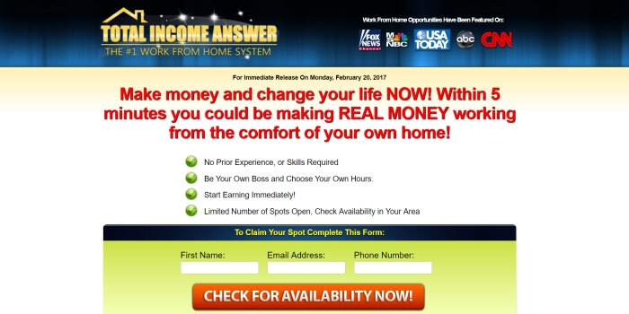 Is Total Income Answer