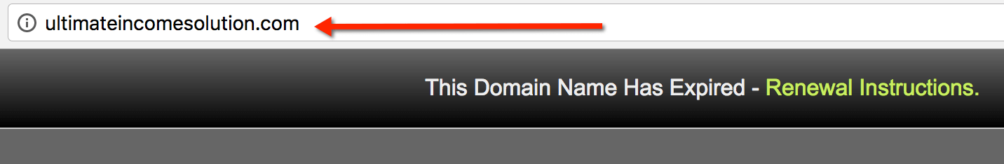 domain name expired