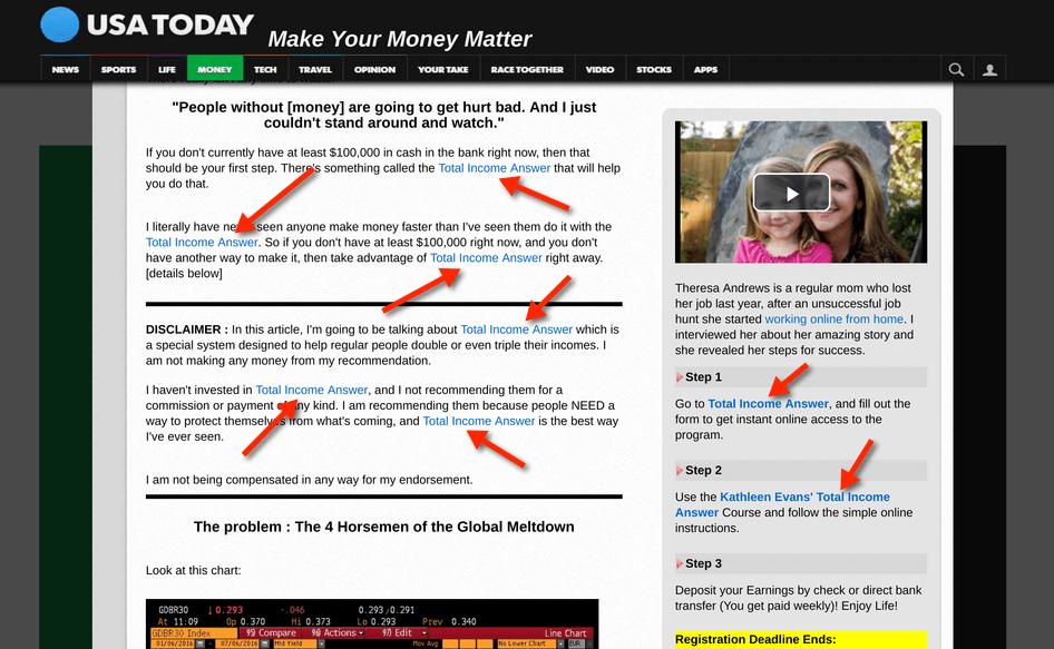 Total Income Answer fake site
