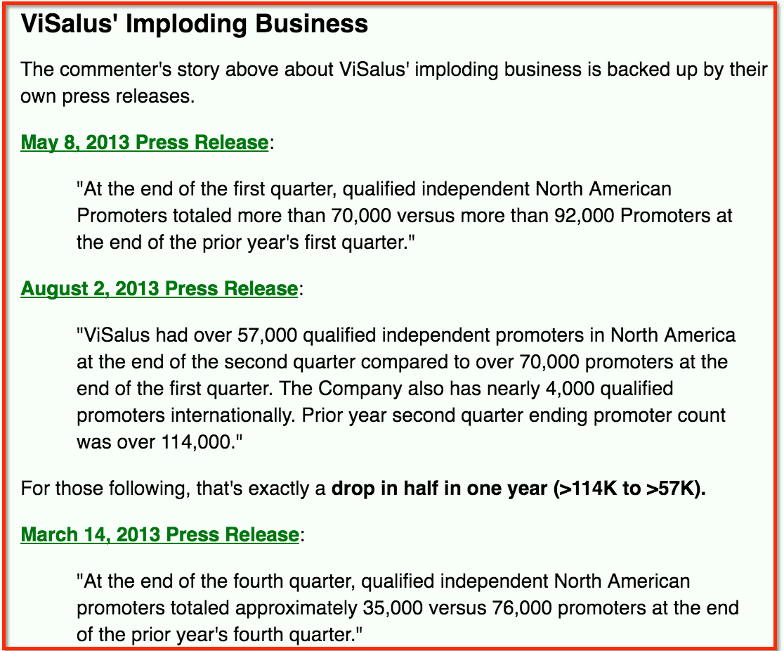 visalus imploding