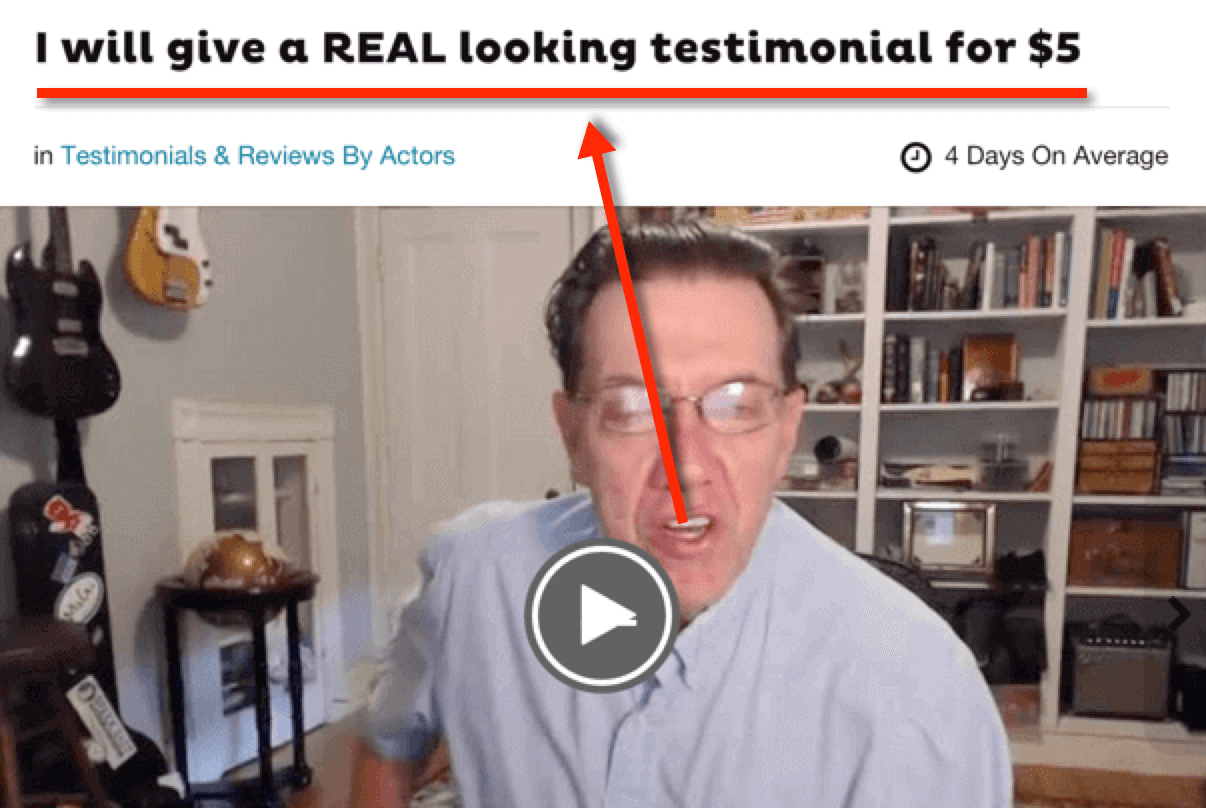 paid actors from fiverr.com