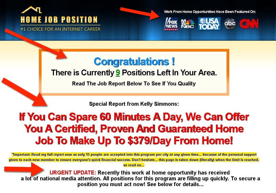 Extreme Home Paycheck and home job position