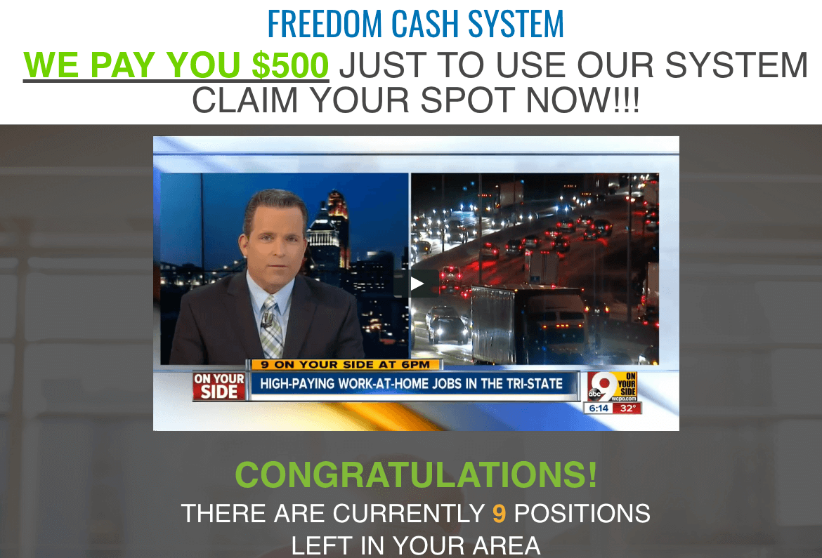 Freedom Cash System promotional video