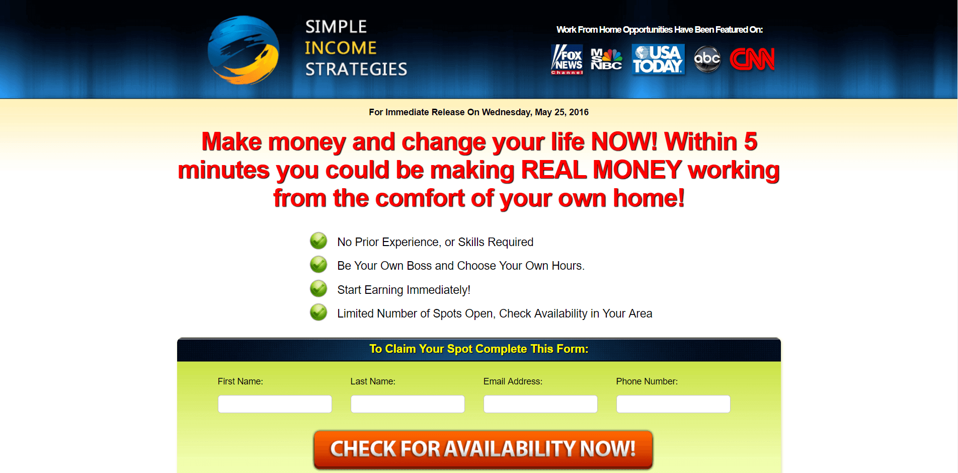 Is Simple Income Strategies a Scam