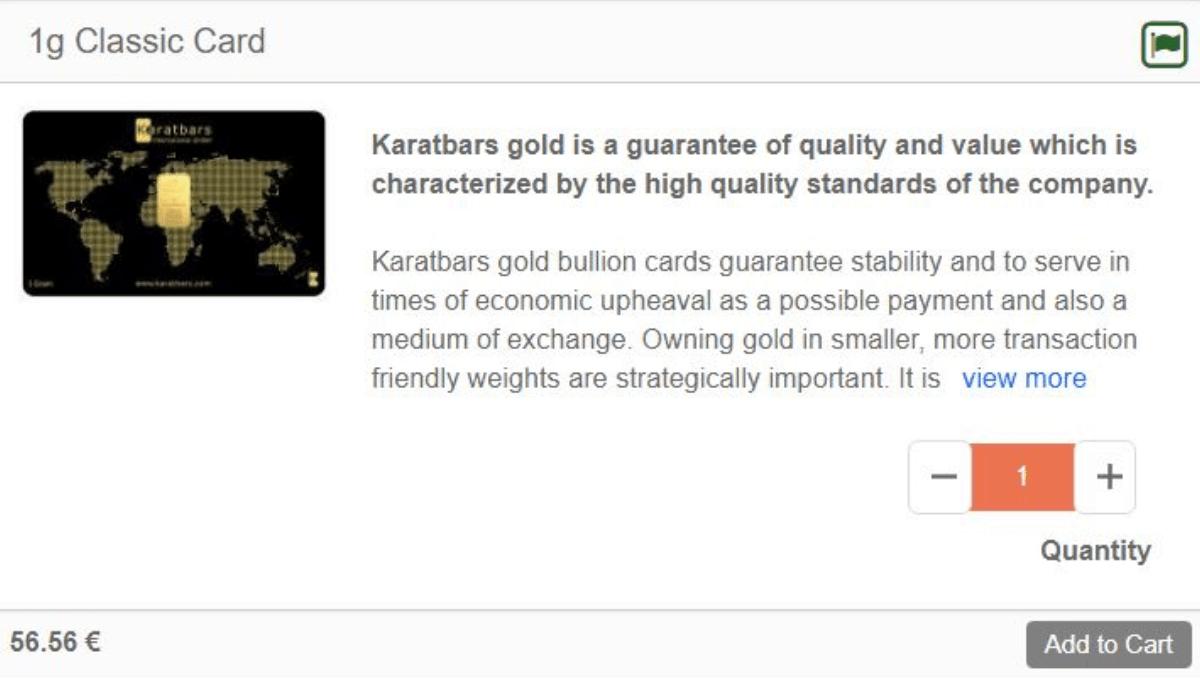 Karatbars cards