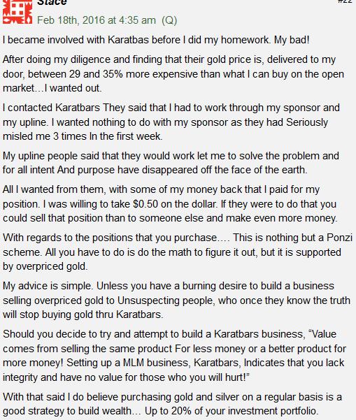 karatbars complaints