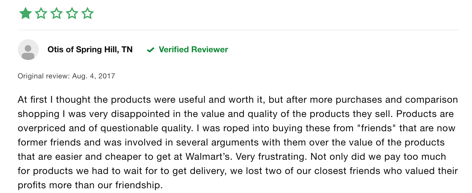 amway negative review