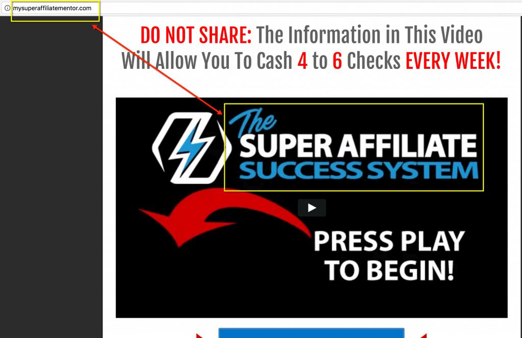 the Super Affiliate Success System training