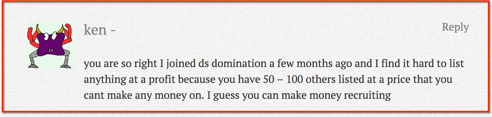ds domination complaint