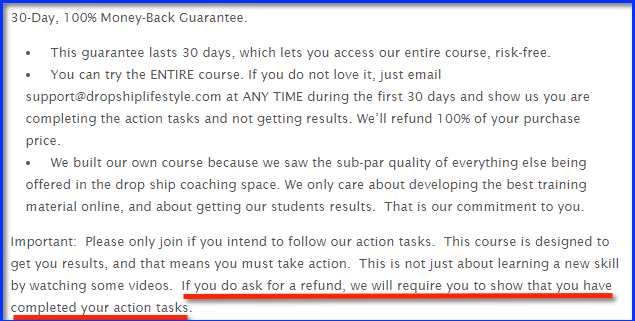 DSL refund policy