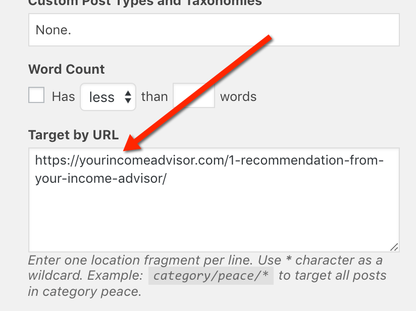 target by URL
