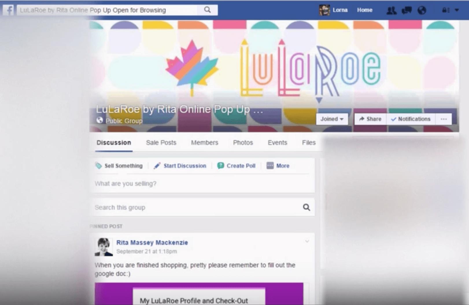 lularoe online popup shop