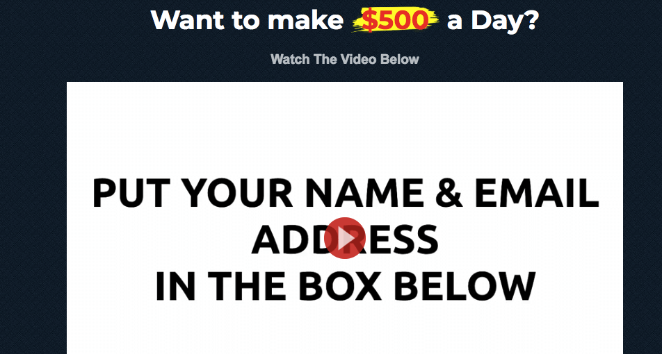 $500 per day