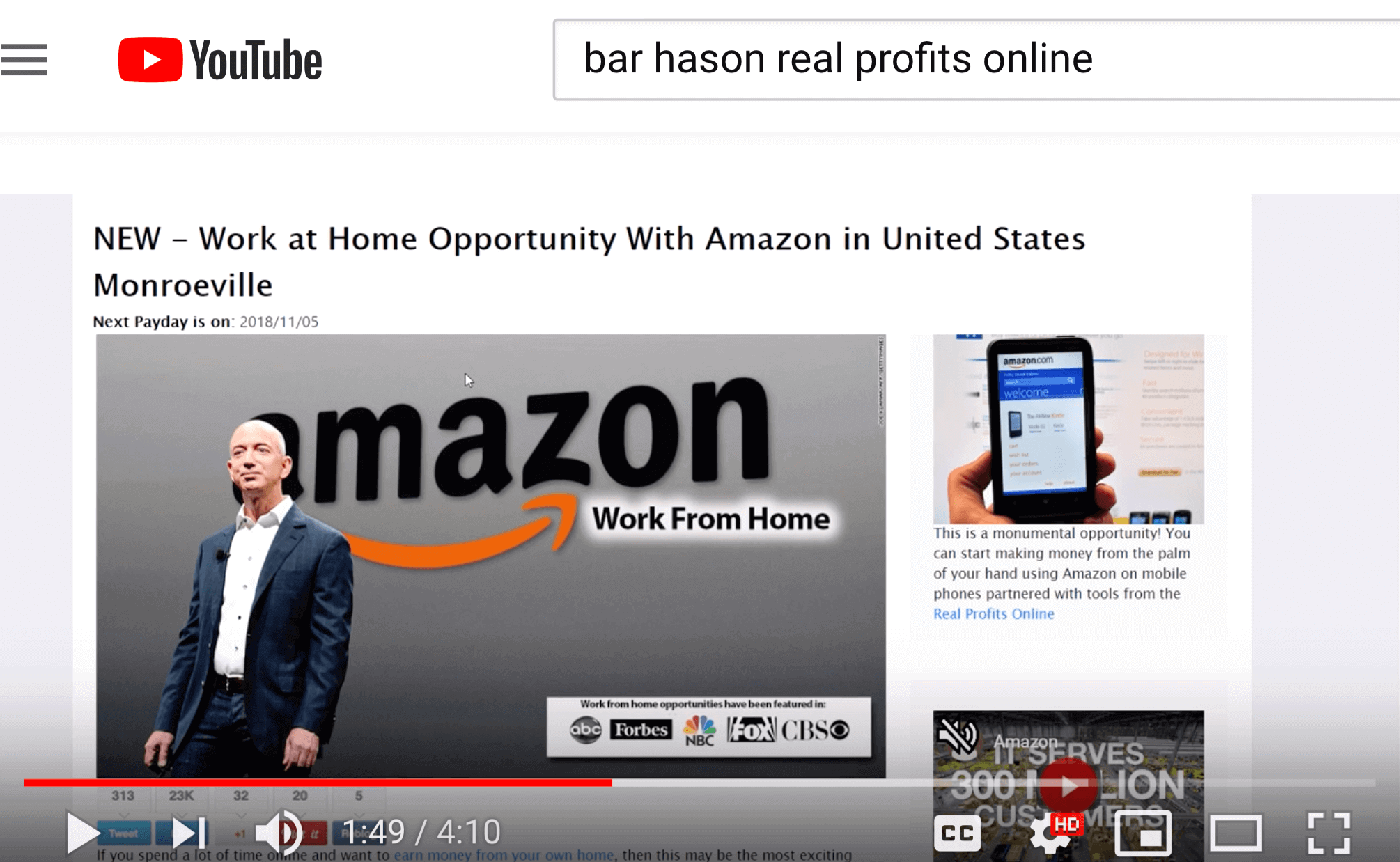 real profits online on youtube
