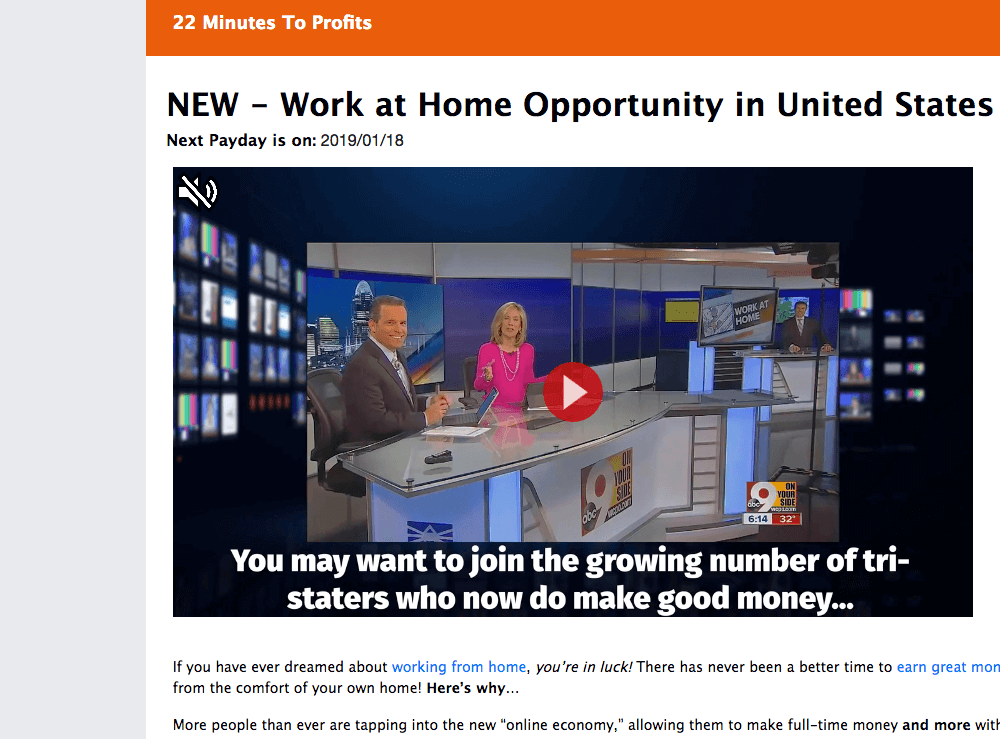 22 minutes to profits news
